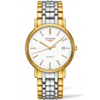 Longines Presence White & Bracelet with gold PVD Gent's Watch,L49212127