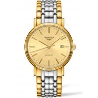 Longines Presence Golden & Bracelet with gold PVD Gent's Watch,L49212327