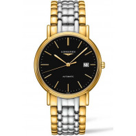 Longines Presence Black & Bracelet with gold PVD Gent's Watch,L49212527