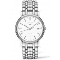 Longines  Presence 38.5mm White Steel Bracelet, L49214126