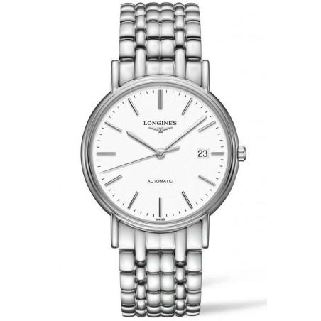 Longines  Presence 38.5mm White Steel Bracelet, L49214126