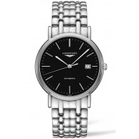 Longines  Presence 38.5mm Black & Steel Bracelet, L49214526