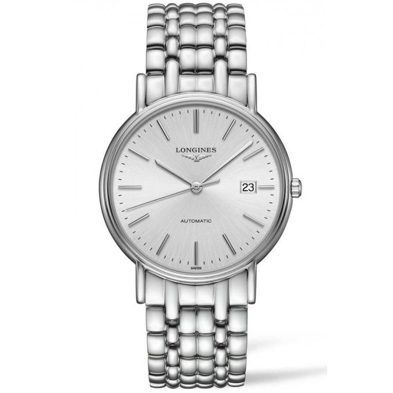 Longines  Presence 38.5mm Silver & Steel Bracelet, L49214726