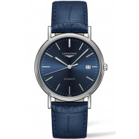 Longines Presence 38.5mm Blue & Steel Leather strap, L49214922