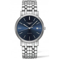 Longines  Presence 38.5mm Blue & Steel Bracelet, L49214926