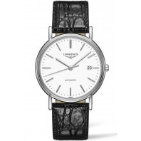 Longines Presence 38.5mm White & Steel Leather strap, L49214122