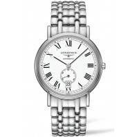 Longines Presence 38,5mm Small seconds Roman numerals White & Steel, L48054116
