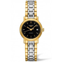 Longines  Presence 25mm Black & Gold PVD,L43212527