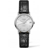 Longines  Presence 30 mm Silver & Leather strap,L43224722