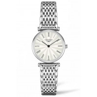 Longines La Grande Classique  24mm Roman Numeral Silver flinque & Steel women's watch,L42094716
