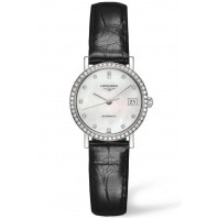 Longines - Elegant 25.5mm 52 Diamanter Pärlemor & Stål Alligator band,L43090872