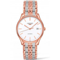 Longines Lyre 38,5mm White & Rose gold PVD Gent's Watch,L49601127