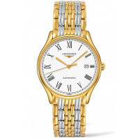 Longines Lyre 38,5mm Roman numerals White & Gold PVD Gent's Watch,L49602117