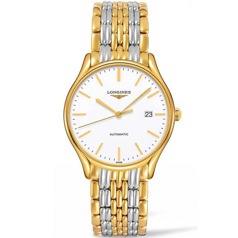 Longines Lyre 38,5mm White & Gold PVD Gent's Watch,L49602127