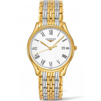 Longines Lyre Quartz 38,5mm Roman numerals White & Gold PVD Gent's Watch,L48592117