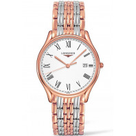 Longines Lyre Quartz 38,5mm White & Rose gold PVD Gent's Watch,L48591117