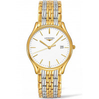 Longines Lyre Quartz 38,5mm White & Gold PVD Gent's Watch,L48592127