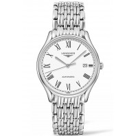 Longines Lyre 38,5mm White & Steel Leather strap Gent's Watch,L49604122