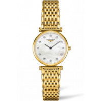 Longines La Grande Classique 29mm 12 Diamonds Mop & Full gold Pvd, L45122878
