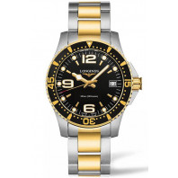 Longines - HydroConquest 34mm Quartz Black Steel & Gold pvd,L33403567