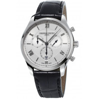 Frédérique Constant - Classic 40 mm Quartz Chronograph Steel & Leather strap FC-292MS5B6