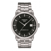 Tissot - Luxury Powermatic 80 Men's watch Black & Steel bracelet T0864071105100