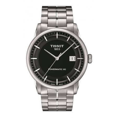 Tissot - Luxury Powermatic 80 Svart & Stållänk,T0864071105100