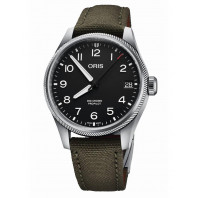 Oris - Big Crown ProPilot Date 41 mm Black & Olive green textile strap,75177614164