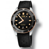 Oris Divers Sixty-Five Black & rubber strap  Steel & Bronze, 73377074354