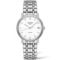 Longines  Presence 34.5mm White Steel Bracelet L48214126