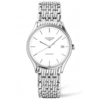 Longines Lyre 35mm Automatic White & Steel bracelet,L48604126