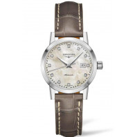 The Longines 1832- 30mm Mother-of-pearl & Alligator 12 Diamonds,L43254872