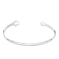 Montblanc - The  Montblac Classic Silver bangle with snowcap emblem,12001258