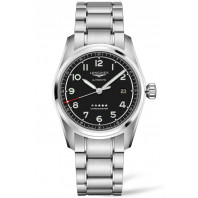 Longines Spirit - 40mm Black dial Steel & Steel bracelet, L38104536