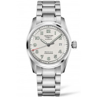 Longines Spirit - 40mm white dial & Steel bracelet with Two additional leather starps, L38104739