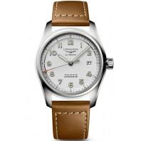 Longines Spirit - 40mm White dial & XL leather straps, L38104734