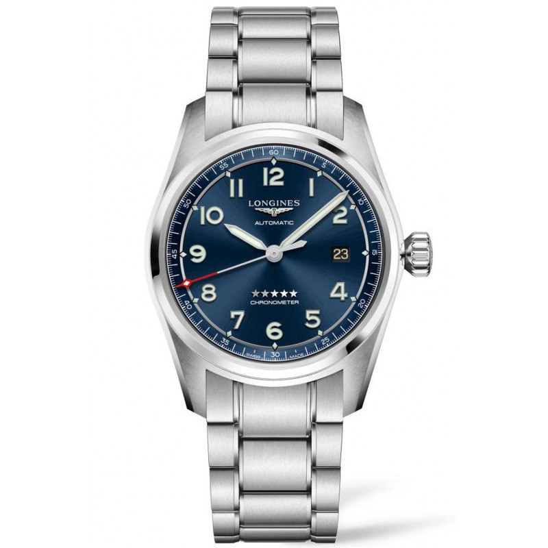 Longines Spirit - 40mm Blue dial Steel & Steel bracelet, L38104936