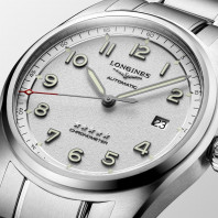 Longines Spirit - 40mm White dial Steel & Steel bracelet, L38104736