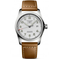 Longines Spirit - 40mm Vit urtavla &  XL läderband, L38104734