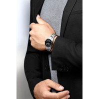 Longines Spirit - 40mm Black dial & Steel bracelet with Two additional leather starps, L38104539