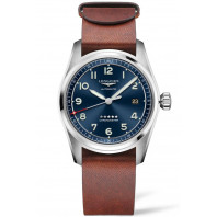 Longines Spirit - 42mm Blue dial & Steel bracelet with Two additional leather straps, L38114939