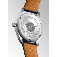 Longines Spirit - 42mm Blue dial Steel & XL Leather strap,  L38114933