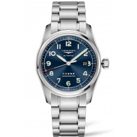 Longines Spirit - 42mm Blue dial Steel & Steel bracelet, L38114936