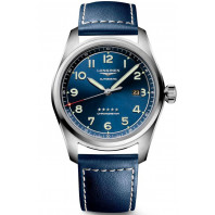 Longines Spirit - 42mm Blue dial Steel & Leather strap, L38114930