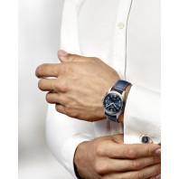 Longines Spirit - 42mm Blue dial Steel & Leather strap, L38114930