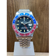 PRE-OWNED Rolex GMT-Master Pepsi Steel,1675