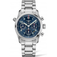 Longines Spirit - 42mm Chronograph blue dial & Steel bracelet, L38204936