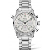 Longines Spirit - 42mm Chronograph White dial & Steel bracelet, L38204736