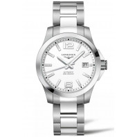 Longines - Conquest 39mm Automatic White & Steel L37764166