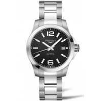 Longines - Conquest 39mm Automatic Black & Steel,L37764586